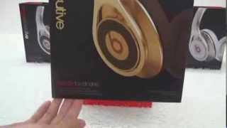 Replica Beats By Dr Dre Gold Excutive Headphone For DJ Unboxing