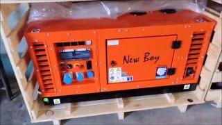 видео Бензиновые генераторы Europower в шумозащитном кожухе