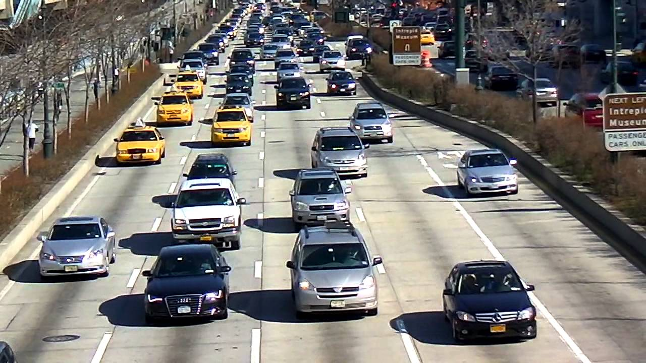 West Side Highway Traffic HD Close up in Manhattan, New ...