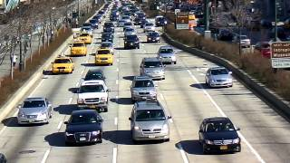 West Side Highway Traffic HD Close up in Manhattan, New York