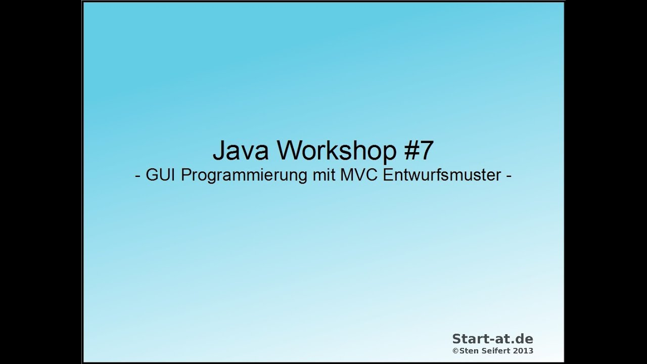 Java - Folge 7 - GUI Programmierung mit MVC Entwurfsmuster - YouTube