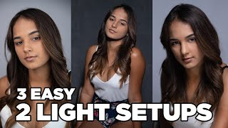 3 Portrait Lighting Styles in 4 minutes
