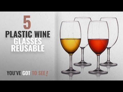 Best Plastic Wine Glasses Reusable [2018]: MICHLEY Unbreakable Wine Glasses, 100% Tritan Plastic