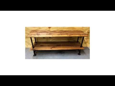 Sturdy And Industrial Style Black Iron Pipe Tv Stand Youtube