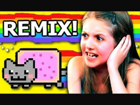 REACT REMIX - Kids React to Nyan Cat