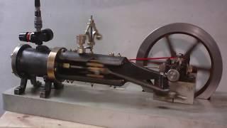 Moteur à Vapeur Horizontal mono-cylindre (coté embiellage)