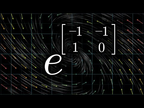 How (and why) to raise e to the power of a matrix | DE6 - 3Blue1Brown