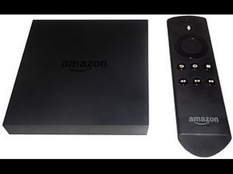 Amazon Fire TV box, unboxing, menu, slingtv on 4k TV