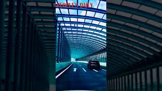 Dubbed hypnotic tunnel, this highway section in Shenyang can give you different driving experience