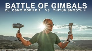 ZHIYUN SMOOTH 4 VS DJI OSMO MOBILE 2 | IN DEPTH COMPARISON with the OnePlus 6