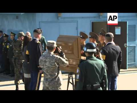 Remains of NKorean soldier washed away in floods last August are repatriated