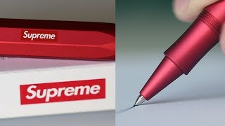 $150 Vs. $0 Pens - EXPENSIVE Vs. CHEAP Art Supply Comparison! (Supreme Pen)