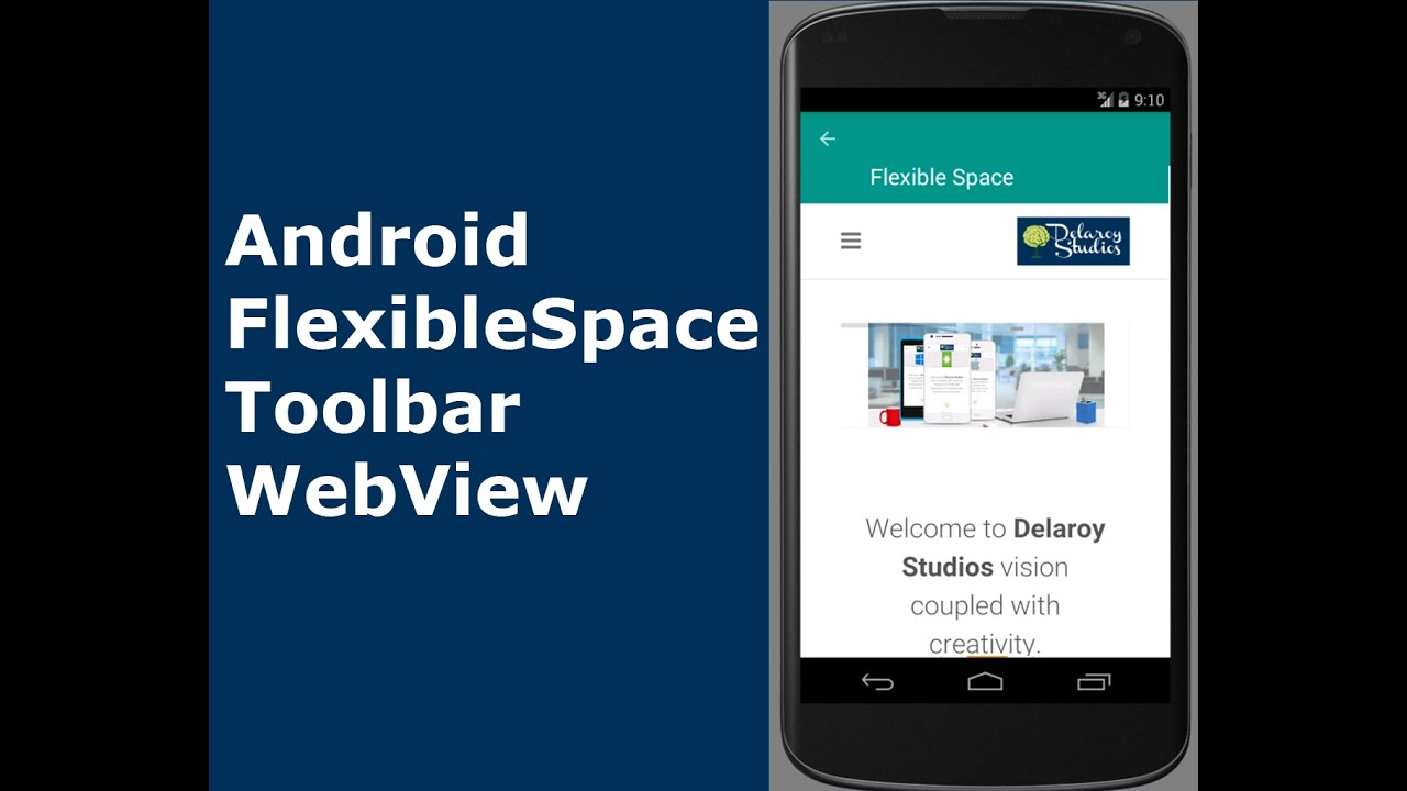 Android FlexibleSpaceToolbar WebView