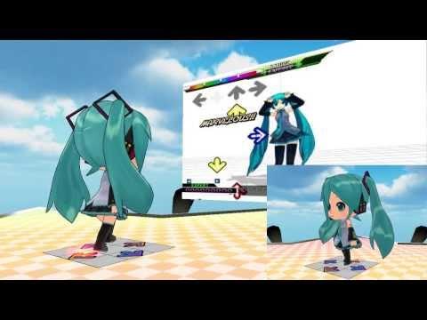 【VOCALOID-MMD】Nendoroid Miku Hatsune's DDR Caramelldansen