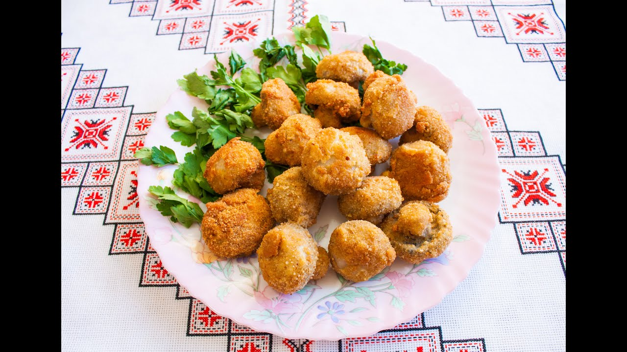 Горячие блюда с шампиньонами