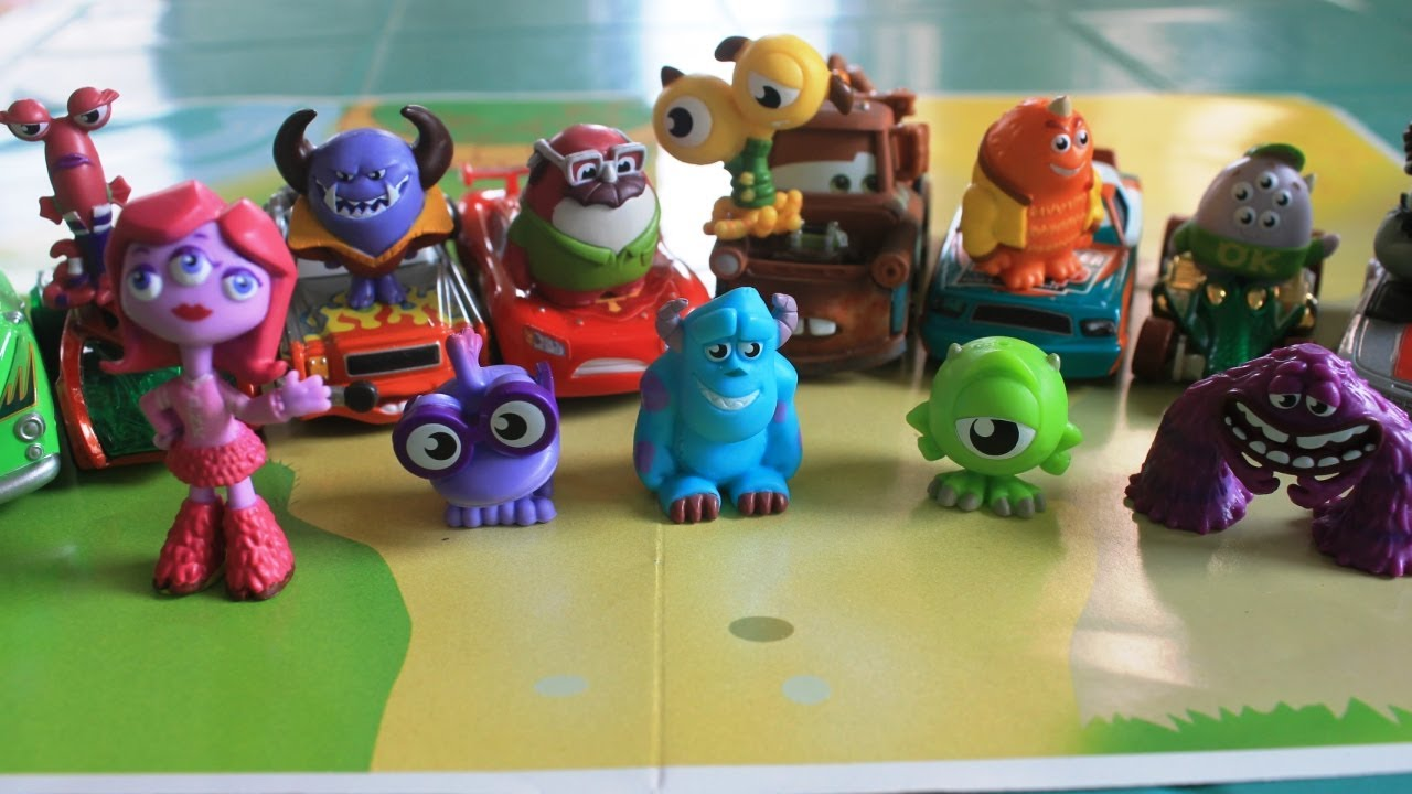 Monsters University Toys Cars 2 Mike Sulley Hot Wheels Cars Kids Toys