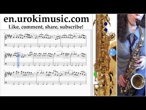 Saxophone lessons (Alto) Fall Out Boy - Heaven's Gate Sheet Music Tutorial um-ih352