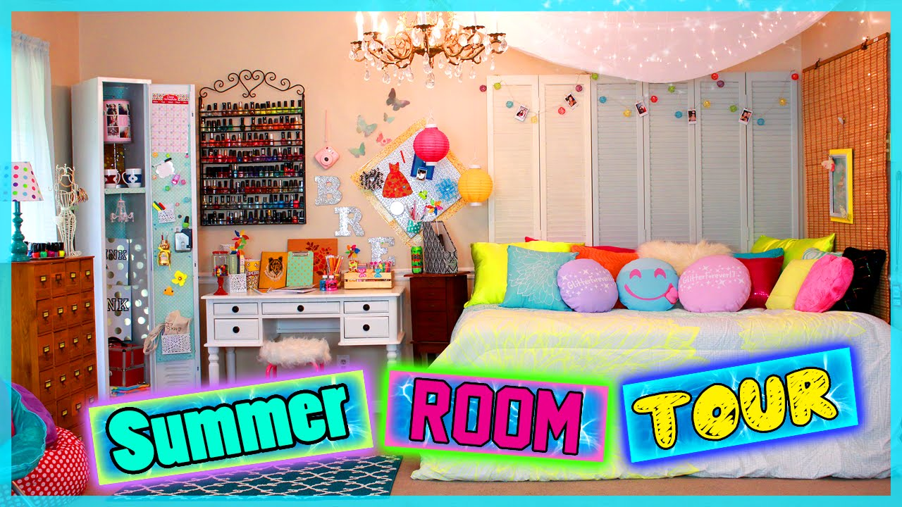 Summer room tour diy room decor ideas for Room decor ideas summer