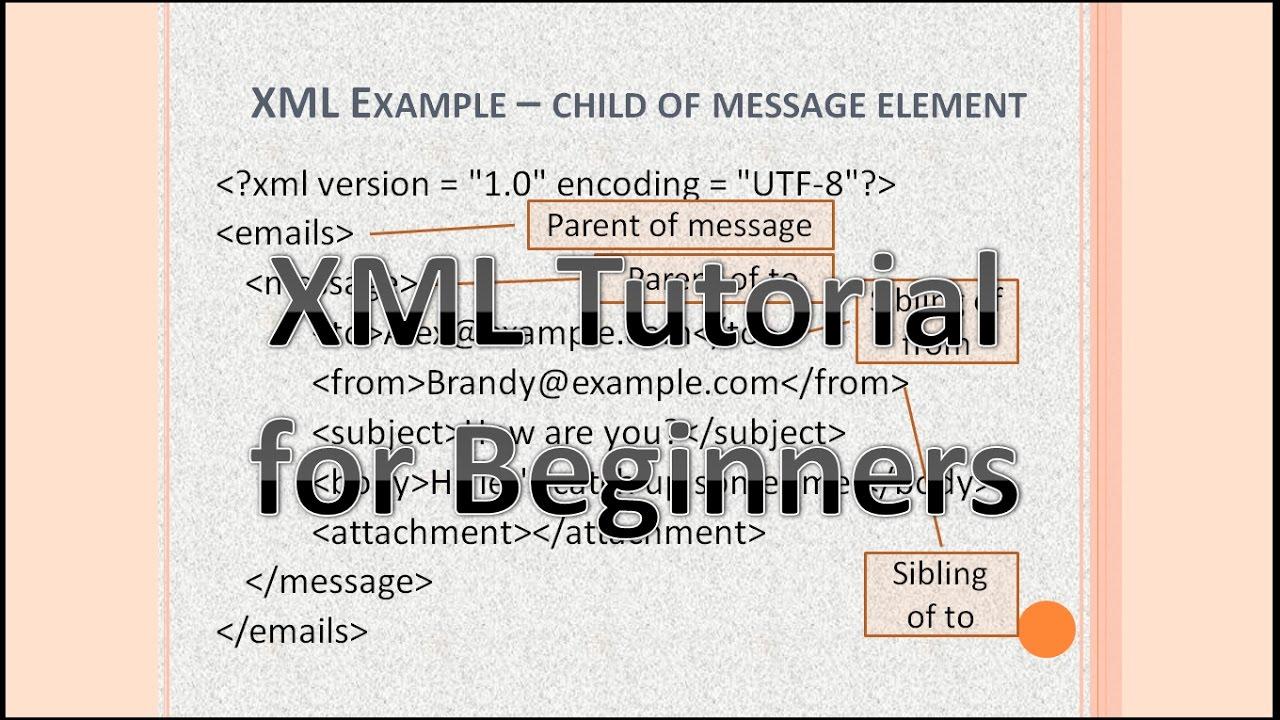 XML coding tutorial for beginners - Part 1