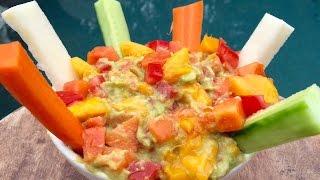 Papaya And Mango Guacamole Dip (ideal For Kids) #rawvanafit