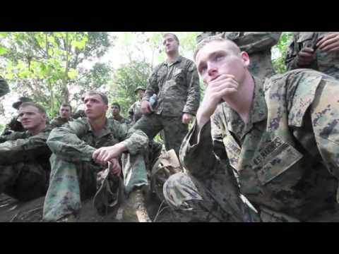 US Marines Train to Survive in the Jungle   Creating Weapons   Cooking Snake  Etc    2