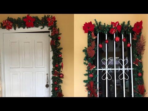 Decoracion De Paredes Puertas Y Ventanas Navidad 2019 Diy