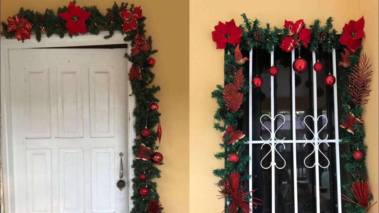 Decoracion de paredes puertas y ventanas navidad 2018 diy for Decoracion de puertas para navidad