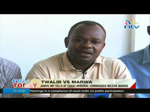 Jomvu MP tells off Coast regional commander Nelson Marwa