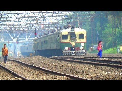 Back to back EMU train crossing at busy belur railway station || Eastern Railway