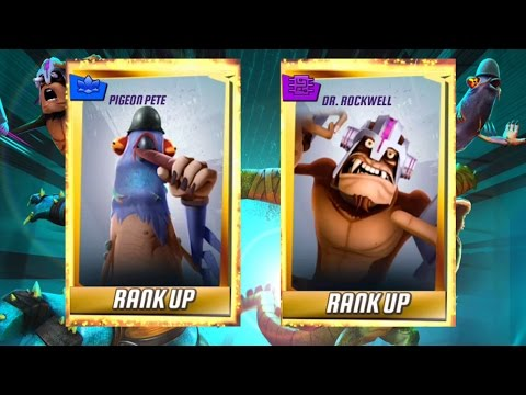 Dr Rockwell and Pigeon Pete Rank Up  TMNT Legends