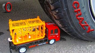 EXPERIMENT: Baby truck vs CAR - Crushing Crunchy & Soft Things by Car!