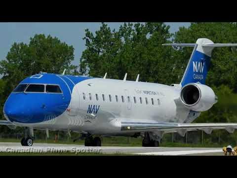 Nav Canada CRJ-200 Takeoff At Ottawa International Airport (YOW)