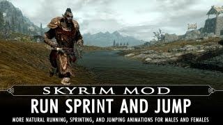 Skyrim Mod Feature: Run Sprint and Jump - Animation Mod