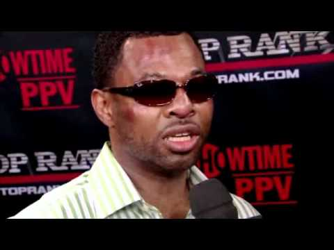 Post Fight Interview with Shane Mosley after Manny Pacquiao fight