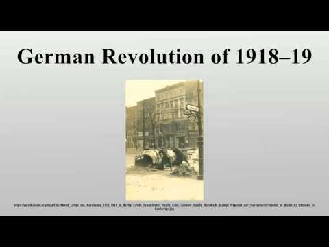 German Revolution of 1918–19