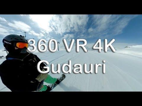 Gudauri VR 360 Snowboarding 2018