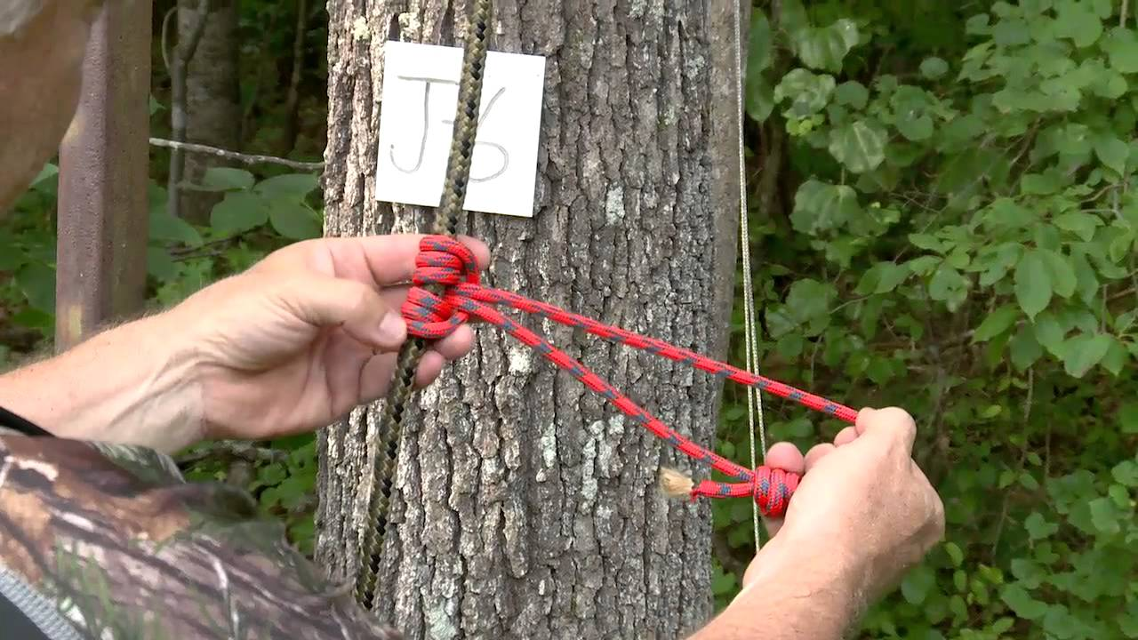 Total Outdoorsman Rig A Treestand Safety Line Youtube