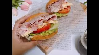 브런치메뉴 잠봉뵈르 샌드위치 만들기