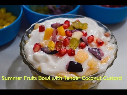 Elaneer Custard / How to make Tender coconut Pudding - Summer n Exotic recipes | Madraasi