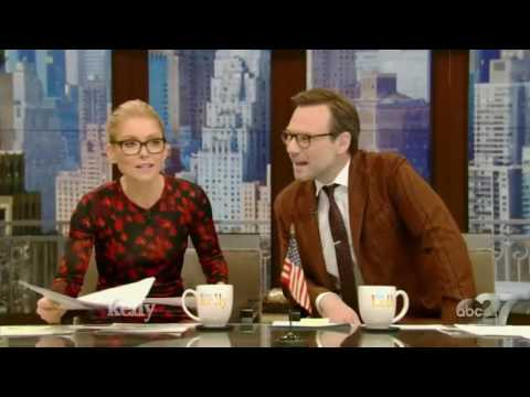 Live with Kelly (March 7, 2017) Tom Hiddleston, Michelle Dockery & host Christian Slater Interview