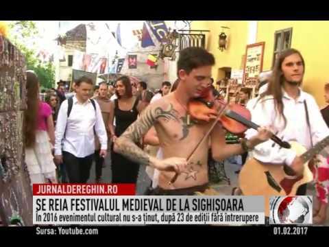 SE REIA FESTIVALUL MEDIEVAL DE LA SIGHIŞOARA (2017 02 01)