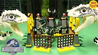 New Lego Compatible Indominus Rex Escape Vs Indominus Rex Jurassic World Speed Build 77012 Unboxing