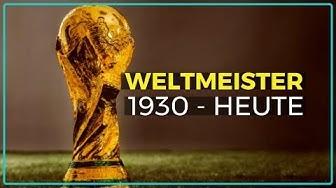 Alle Fußball-Weltmeister ★ Liste von 1930 bis Heute mit den besten Spielern