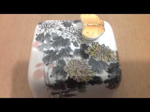 Korea Moonyart elegant simple series of daisy ceramic music box
