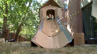 Have you ever built a slide out of cardboard? Watch as Nate engineers a playhouse for his son, Calvin.