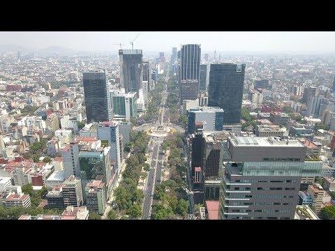 MEXICO CITY, MEXICO [4K] AERIAL DRONE FOOTAGE