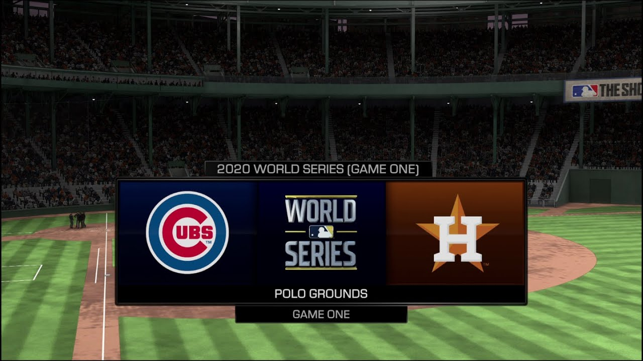 2020 Mock World Series - Astros vs Cubs Game 1 (MLB The Show 20)