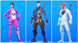 Fortnite skins but without masks... (Skins face reveal)