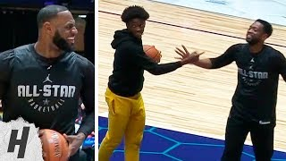 Zaire Wade Plays With His Dad Dwyane Wade & LeBron | February 16, 2019 NBA All-Star Practice