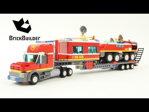 Lego City 4430 Fire Transporter - Lego Speed Build